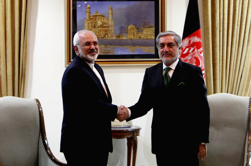 Afghan Chief Executive Abdullah Abdullah (R) meets with Iran's Foreign Minister Mohammad-Javad Zarif in Kabul Jan. 20, 2015. (Xinhua/Rahmin) - Mohammad-Javad Zarif