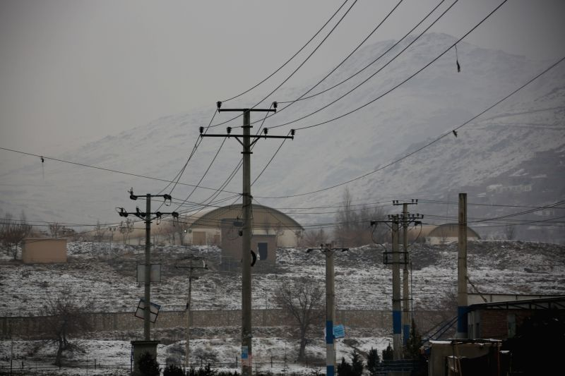 KABUL, Jan. 29, 2018 - Photo taken on Jan. 29, 2018 shows the site of the attack on a military university in Kabul, capital of Afghanistan. Gunmen attacked a military university in Kabul, capital of ...