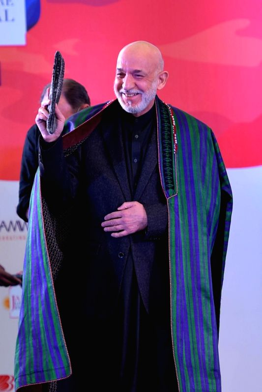 Kabul, June 3 (IANS) Former Afghan President Hamid Karzai expressed support for China's efforts to safeguard national unity and security in a meeting with Chinese Ambassador to Afghanistan Wang Yu.(File Photo: Ravi Shankar Vyas/IANS)