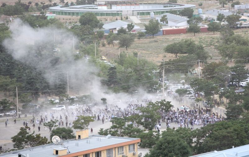 KABUL, June 3 Photo taken on June 3, 2017 shows an explosion at a funeral ceremony in Kabul, the capital of Afghanistan. At least 18 people have been confirmed dead and 12 others injured ...