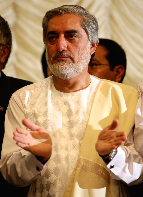 Afghan presidential candidate Abdullah Abdullah speaks during a joint press conference in Kabul, Afghanistan, May 11, 2014. Afghan presidential candidate Dr. Zalmai ...