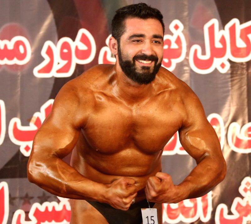 KABUL, May 12, 2016 - A body builder participates in a competition in Kabul, Afghanistan, May 11, 2016. A body builder competition was held in Kabul, capital of Afghanistan on Wednesday. About 535 ...