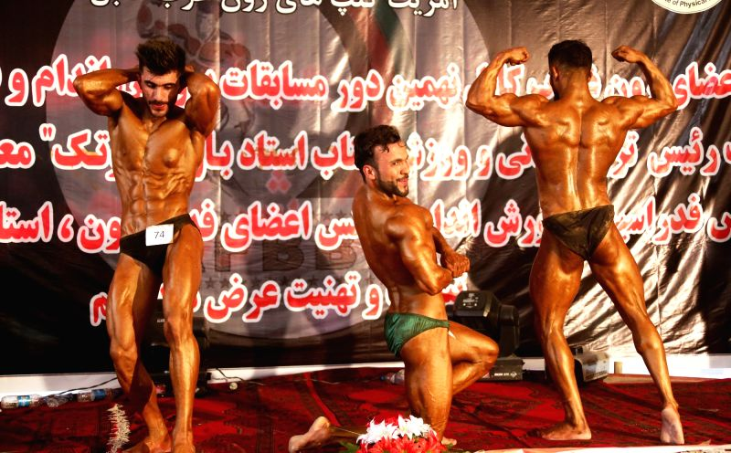 KABUL, May 12, 2016 - Body builders participate in a competition in Kabul, Afghanistan, May 11, 2016. A body builder competition was held in Kabul, capital of Afghanistan on Wednesday. About 535 body ...