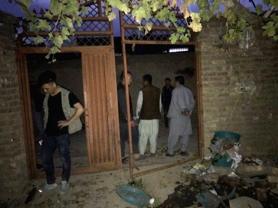 KABUL, Oct. 24 (Xinhua) -- Shows a damaged building near the site of a blast in Kabul, capital of Afghanistan. (Str/Xinhua/IANS)