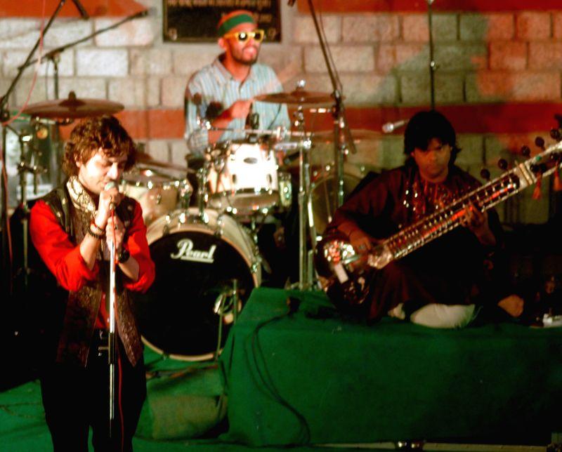 Kabul, the band performing at Manali Summer Sundowners at Rambagh amphitheatre, Manali.