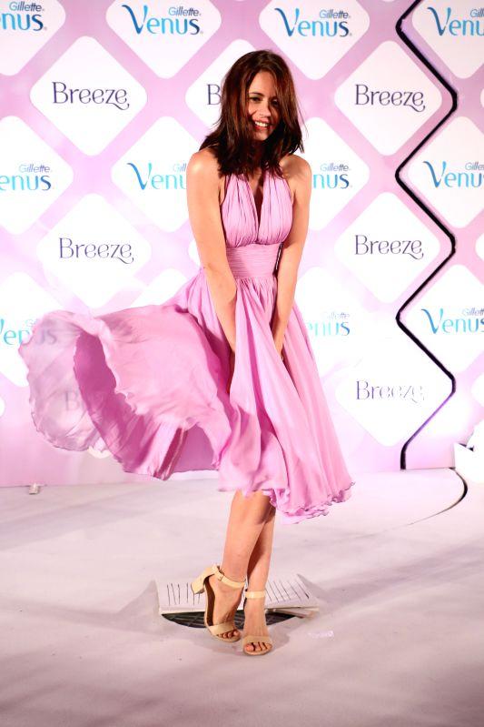 Kalki Koechlin launching Venus Breeze in Marilyn Monroe style.