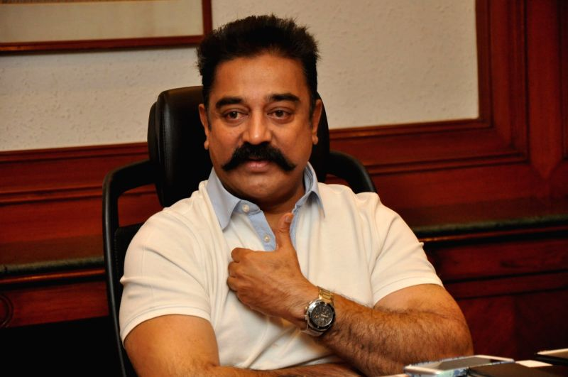 Kamal Hassan spoke to the media on his coming film Cheekati Rajaym.