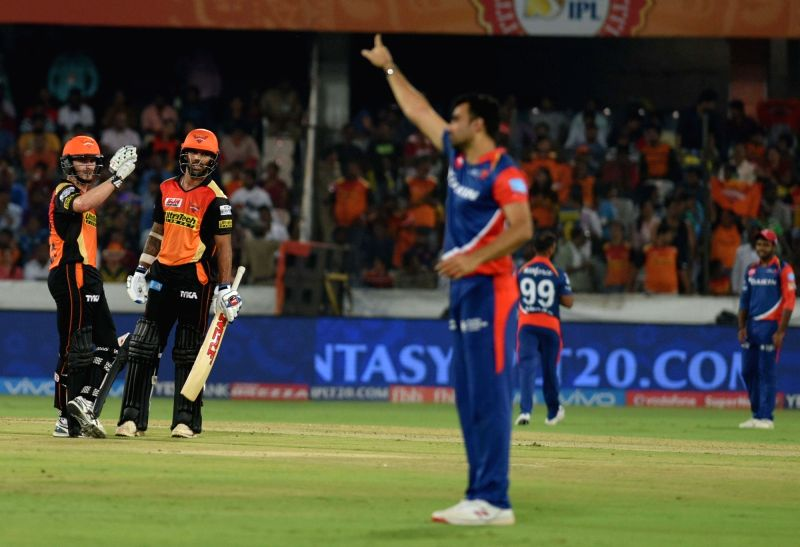 Kane Williamson of Sunrisers Hyderabad during an IPL 2017 match between Sunrisers Hyderabad and Delhi Daredevils at Rajiv Gandhi International Stadium in Hyderabad on April 19, 2017.