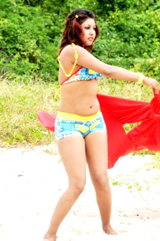 Kannada movie actress Komal Jha in a bikini photo shoot, Mumbai.