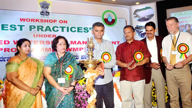 Karnataka Agriculture Minister Krishna Byre Gowda during inauguration of a workshop on Best Practices under Integrated Watershed Management Programme in Bangalore on Sept 3, 2014. - Krishna Byre Gowda