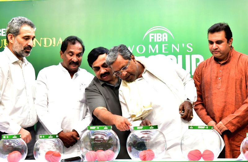 Karnataka Chief Minister Siddaramaiah at the draw of Asia Seniors Women's Championship Tournament organised by International Basketball Federation in Bengaluru, on May 17, 2017. - Siddaramaiah
