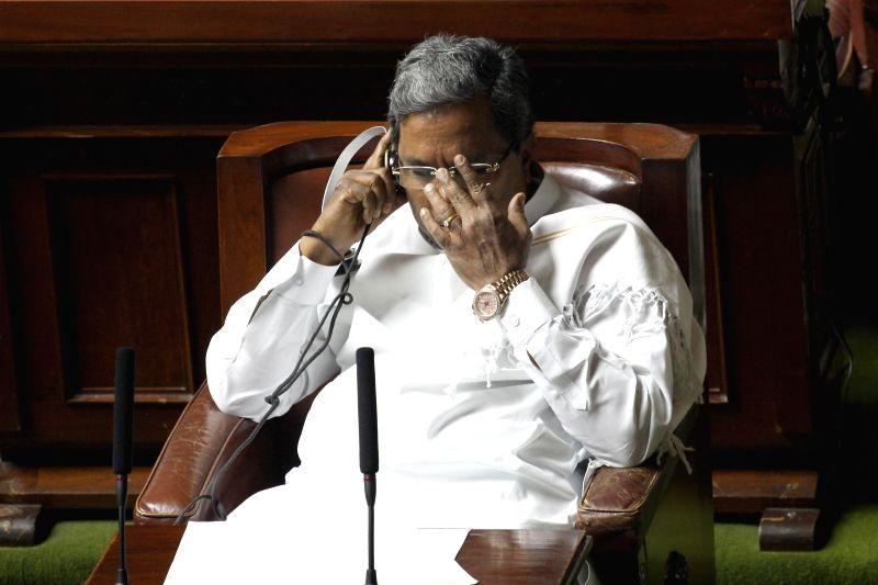 Karnataka Chief Minister Siddaramaiah during Karnataka Legislative Assembly's monsoon session in Bangalore on June 25, 2014. - Siddaramaiah