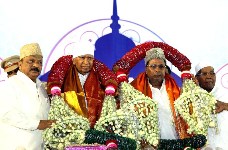 Karnataka Chief Minister Siddaramaiah during an Iftaar party in Bengaluru, on June 8, 2017. - Siddaramaiah