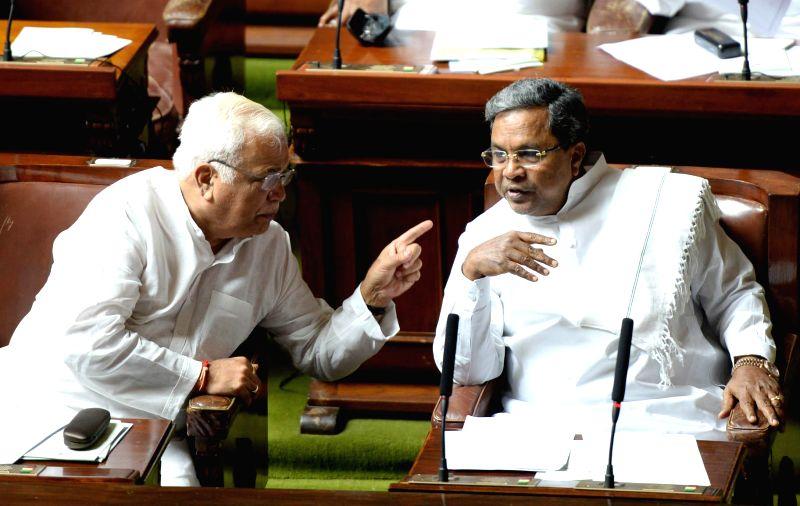Karnataka Chief Minister Siddaramaiah during the first day of Karnataka Legislative Assembly's monsoon session in Bangalore on June 23, 2014. - Siddaramaiah
