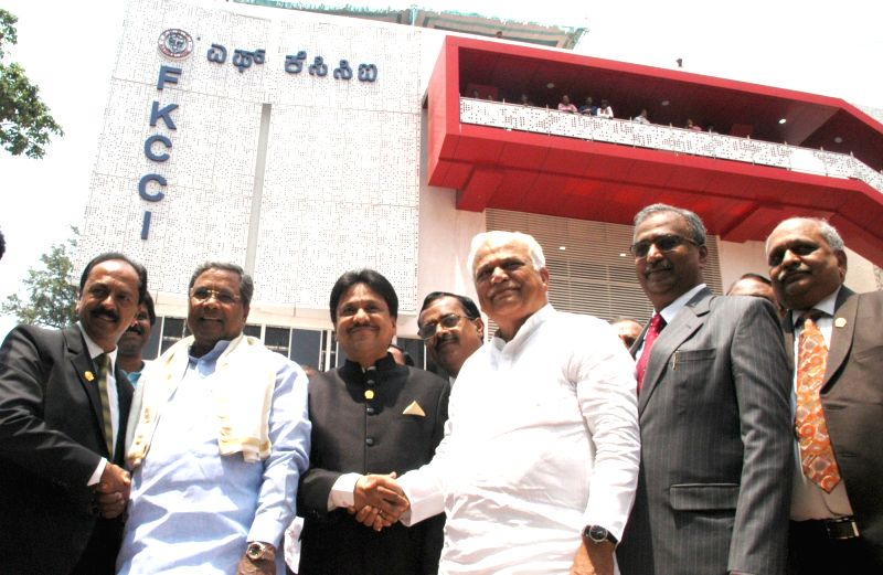 Karnataka Chief Minister Siddaramiah at the inauguration of the Centenary Building of FKCCI in Bengaluru, on May 3, 2017. - Siddaramiah