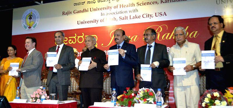 Karnataka Governor H.R Bharadwaj during inauguration of `Jeeva Raksha - Saving lives` a programme organised by Rajiv Gandhi Universities of Health Sciences in Bangalore on June 23, 2014. - Rajiv Gandhi Universities