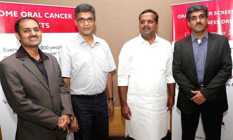 Karnataka Health Minister U.T. Khader at the inauguration of a Free Oral Cancer Screening Program in Bangalore on Sept 1, 2014. - U.