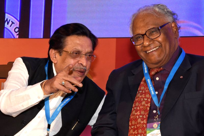 Karnataka Planning, Statistics, Science and Technology Minister M R Seetharam in a conversation with Jawaharlal Nehru Centre for Advanced Scientific Research president C.N.R. Rao during ... - M R Seetharam and R. Rao