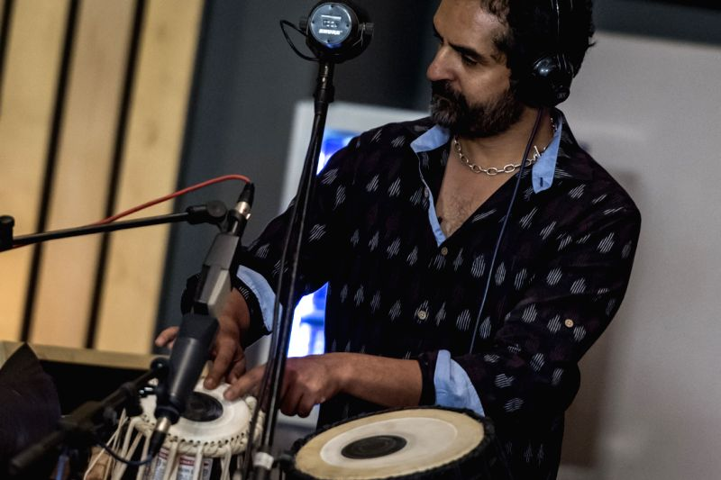 Karsh Kale performs during the Studio Science shoot