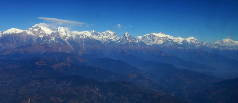 Photo taken on Dec. 12, 2014 shows the mesmerizing view of Mount Machhapuchre and Annapurna of the Himalayan Range in Kaski, Nepal.