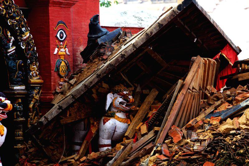 Ruins are seen after earthquake at Hanumandhoka Durbar Square in Kathmandu, Nepal, April 29, 2015. The 7.9-magnitude quake hit Nepal at midday on Saturday. ... - Sunil Sharma