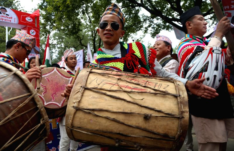 KATHMANDU, Aug. 9, 2016 - People participate in a celebration of the 22nd International Day of the World's Indigenous Peoples in Kathmandu, Nepal, Aug. 9, 2016. The International Day of the World's ...