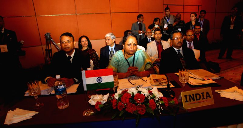 India delegation attends the 41st session of the South Asian Association for Regional Cooperation (SAARC) standing committee ahead of the 18th SAARC summit in Kathmandu, Nepal, Nov. 23, ...