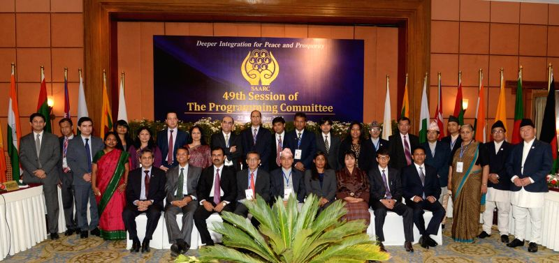 Joint secretaries of Ministries of Foreign Affairs of South Asian Association for Regional Cooperation (SAARC) countries attend the 49th session of the SAARC Programming Committee ahead of
