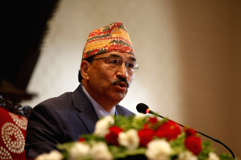 KATHMANDU, May 11, 2016 - Minister for Foreign Affairs of Nepal Kamal Thapa briefs the foreign diplomats about the government's current issues in Kathmandu, Nepal, May 11, 2016. In the briefing ...
