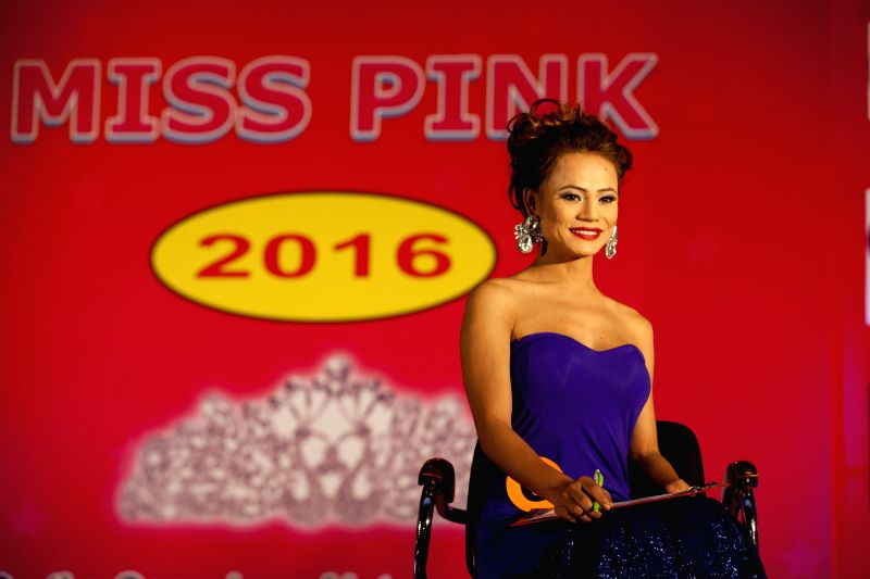 KATHMANDU, May 18, 2016 - Photo taken on May 17, 2016 shows a Nepalese transgender during the Miss Pink Beauty Pageant in Kathmandu, Nepal. A total of 18 transgender models from across the country ...