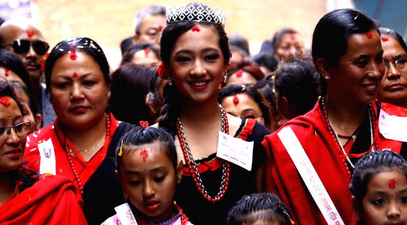 Kathmandu (Nepal): People from Newar community participate in a parade marking Jyapu Day and Yomari Purnima in Kathmandu, Nepal, Dec. 6, 2014. The Jyapu Day is celebrated every year during the full ..