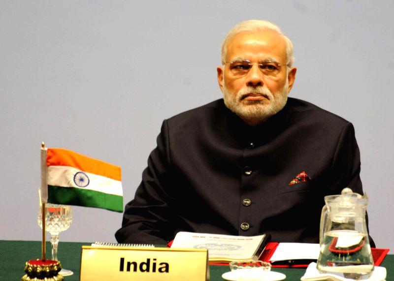 Prime Minister Narendra Modi at the inaugural session of the 18th SAARC Summit, in Kathmandu, Nepal, on Nov 26, 2014. - Narendra Modi