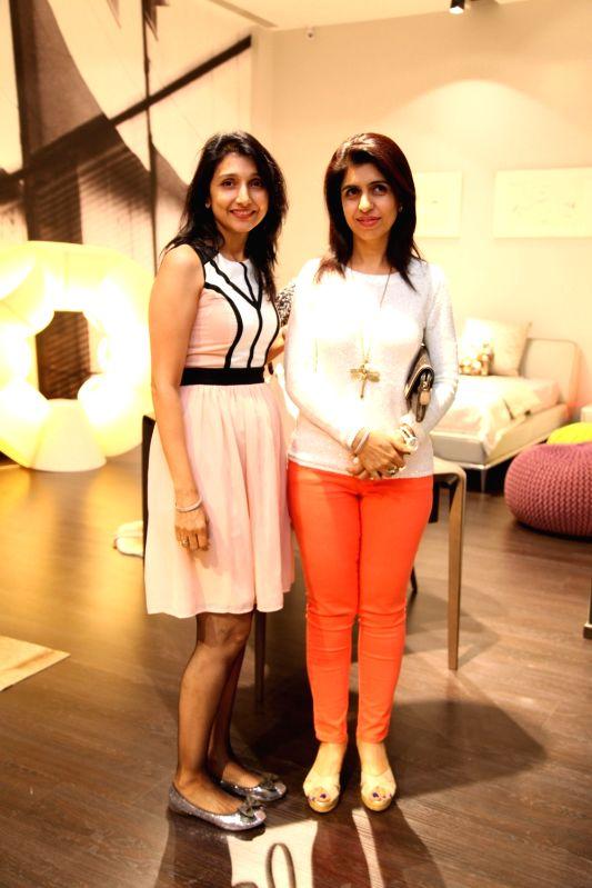 Kavita Sastry and Gunjan Das during Roche Bobois store launch in Bangalore on Nov 28, 2015.