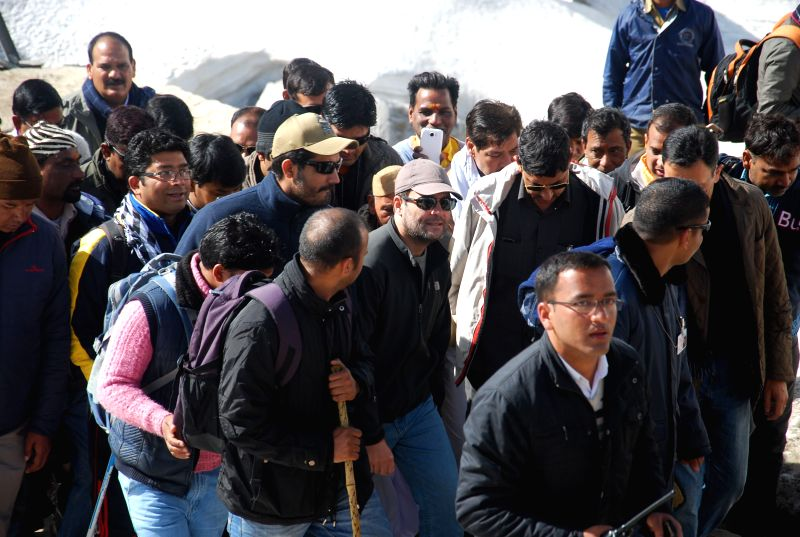 Congress vice-president Rahul Gandhi during his visit to Kedarnath, Uttarakhand on 24 April 2015.