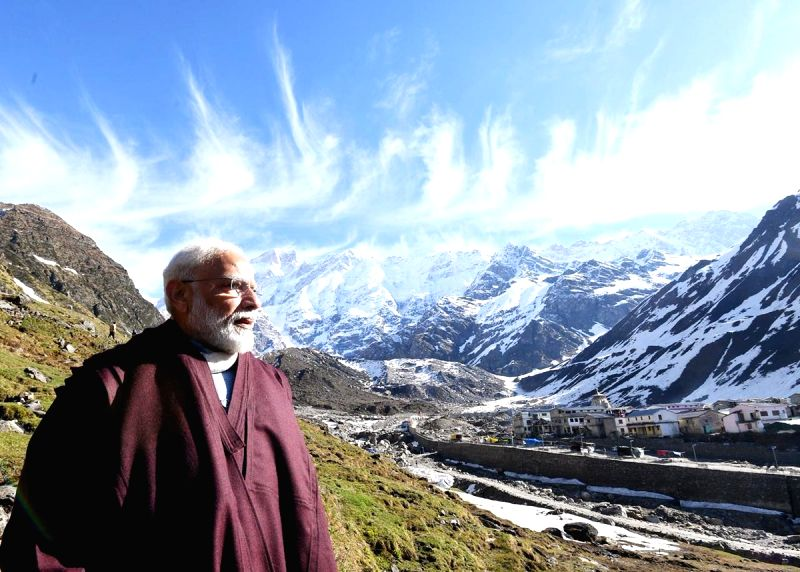 Prime Minister Narendra Modi during his two-day visit to Kedarnath