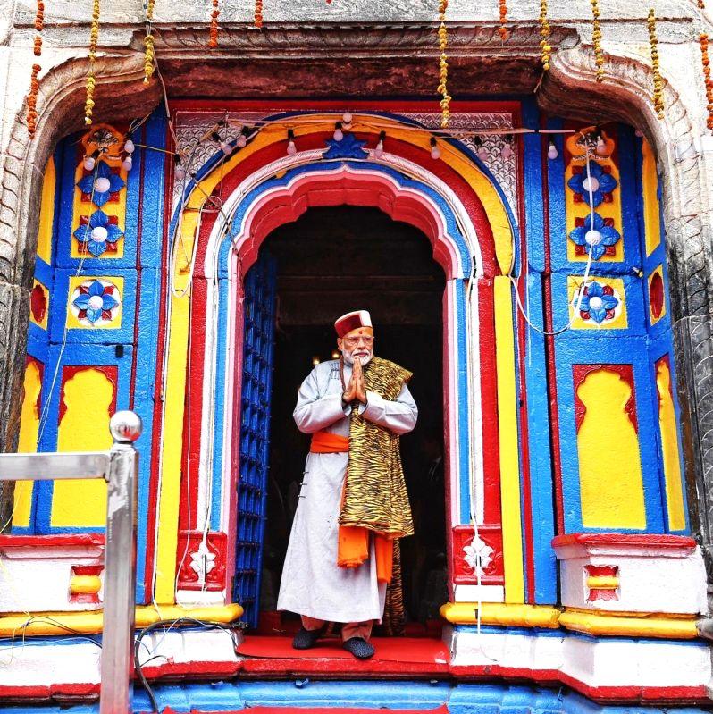 Kedarnath: Prime Minister Narendra Modi offers prayers at the the Kedarnath shrine, in Uttarakhand's Kedarnath on May 18, 2019. (Photo: Twitter/@narendramodi)