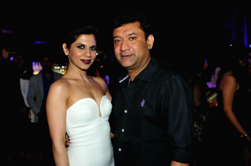 Ken Ghosh and Gauri Malhotra Narang during Just Cavalli Fragrance launch party in Mumbai on April 10, 2014. - Ghosh and Malhotra Narang