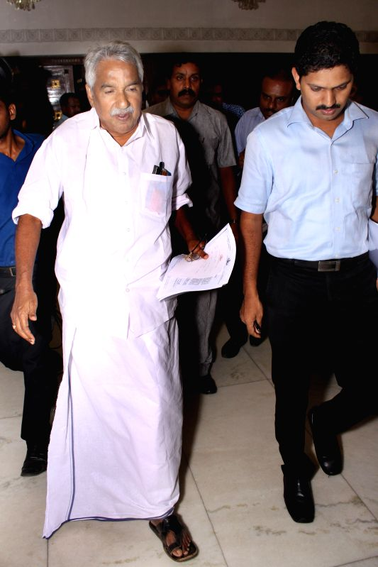 Kerala Chief Minister Oommen Chandy during a press conference in New Delhi on July 3, 2015.