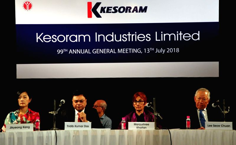Kesoram Industries Limited Vice Chairman Manjushree Khaitan during company's 99th Annual General Meeting in Kolkata on July 13, 2018.