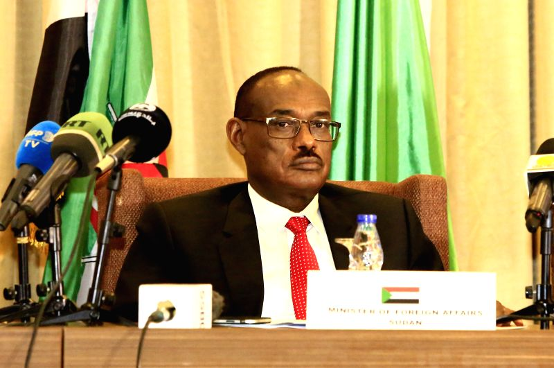 KHARTOUM, Aug. 9, 2018 - Sudanese Foreign Minister Al-Dirdiri Mohamed Ahmed addresses the 64th extraordinary session of the Council of Ministers of Intergovernmental Authority on Development (IGAD) ... - A