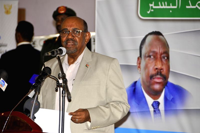 KHARTOUM, July 24, 2018 - Sudanese President Omar al-Bashir addresses a celebration to launch the distribution of rainy season health equipment for Sudan's states for 2018 in Khartoum, Sudan, July ...