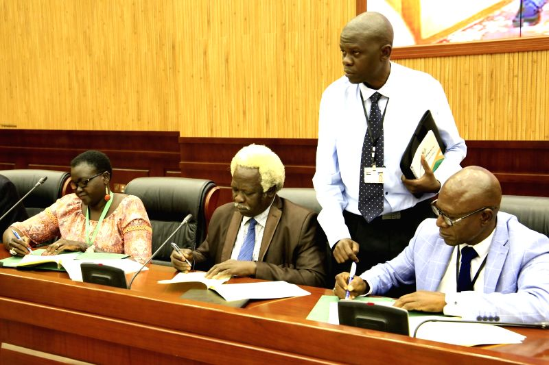KHARTOUM, July 25, 2018 - Representatives of South Sudan's conflicting parties sign an agreement on power-sharing and governance in Khartoum, Sudan, July 25, 2018. South Sudan's conflicting parties ...