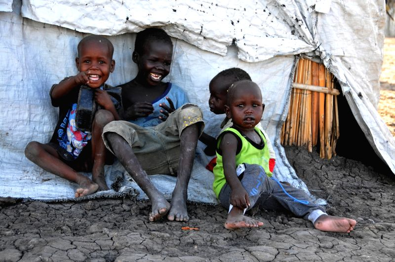 KHARTOUM, May 18, 2017 - Refugees from South Sudan rest at a refugee camp in Sudan's White Nile state near the border with South Sudan on May 17, 2017. The Sudanese Red Crescent Society (SRCS) on ...