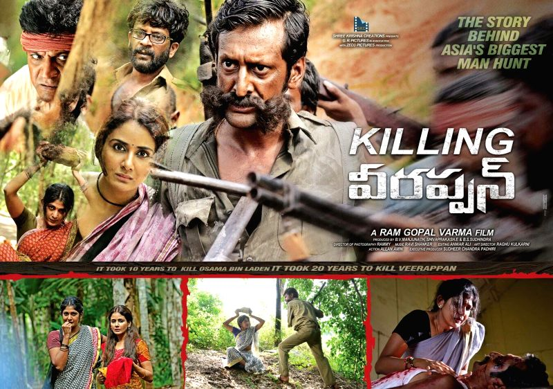 Killing Veerappan movie stills, film written and directed by Ram Gopal Varma