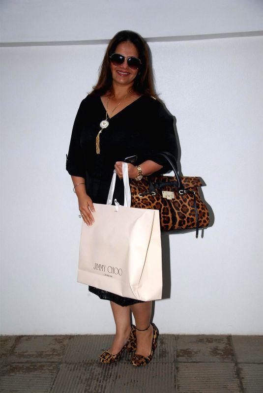 Kiran Bawa, owner of Iosis Medispa during the birthday celebration of artist Rouble Nagi in Mumbai on July 7, 2014.