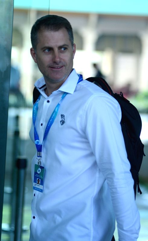 KKR assistant coach Simon Katich arrives to attend Indian Premier League (IPL) Players' Auction in Bengaluru on Jan 28, 2018.