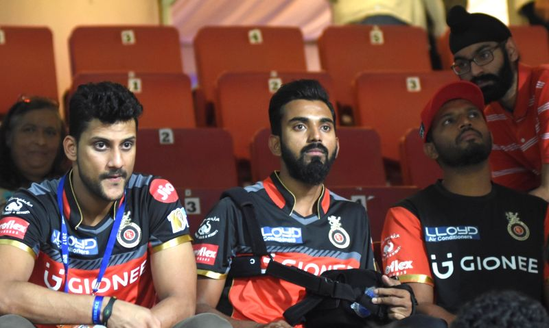 KL Rahul of Royal Challengers Bangalore during an IPL 2017 match between Sunrisers Hyderabad and Royal Challengers Bangalore at M Chinnaswamy Stadium in Bengaluru on April 25, 2017.