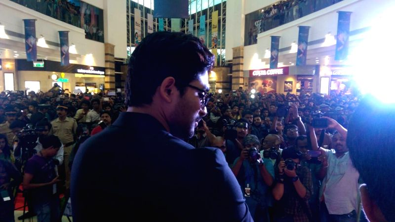 Actor Allu Arjun acted S/o Satya Murthy movie promotional function in Kochi on 21 April, 2015.