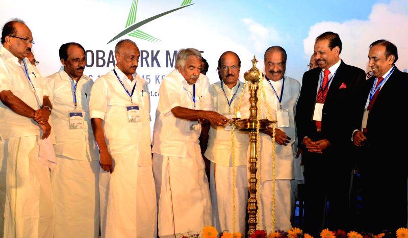 Kerala Chief Minister Oommen Chandy inaugurates Global NRK meet in Kochi, on Jan 16, 2015. - Oommen Chandy