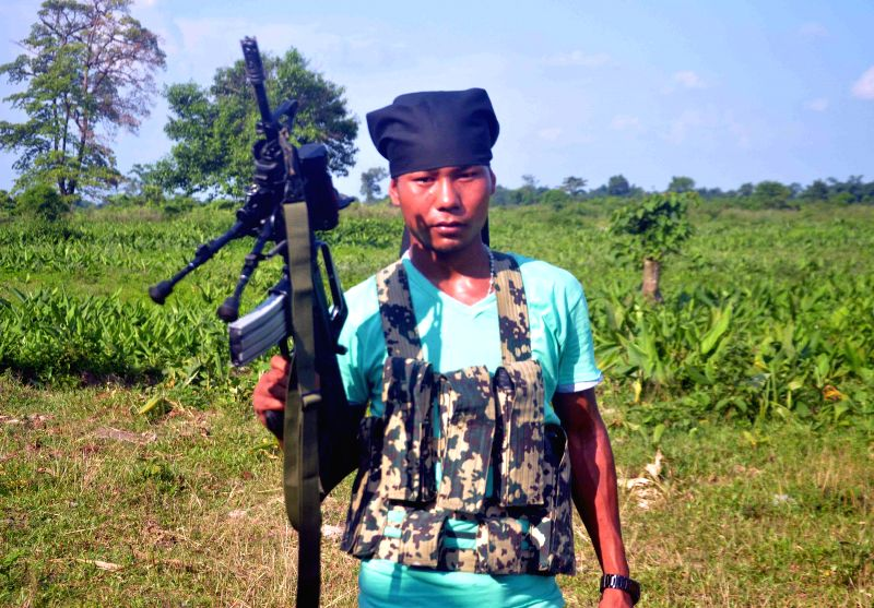 NDFB (S) commander B. Jablang alias Jagat Basumatary, who was killed in an encounter with security forces at Kausibazar area under Serfanguri police station in Kokrajhar district of Assam .